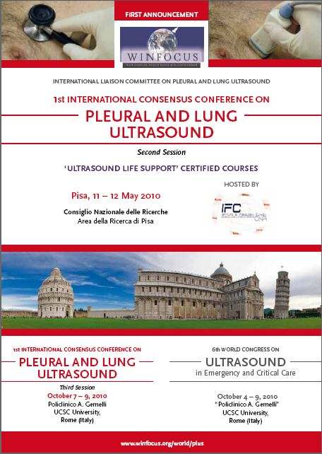 1st International Consensus Conference on PLEURAL and LUNG ULTRASOUND