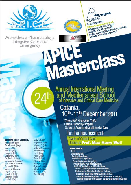 Annual International Meeting and Mediterranean School of Intensive and Critical Care Medicine