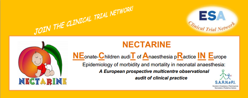 NECTARINE NEonate-Children audiT of Anaesthesia pRactice IN Europe