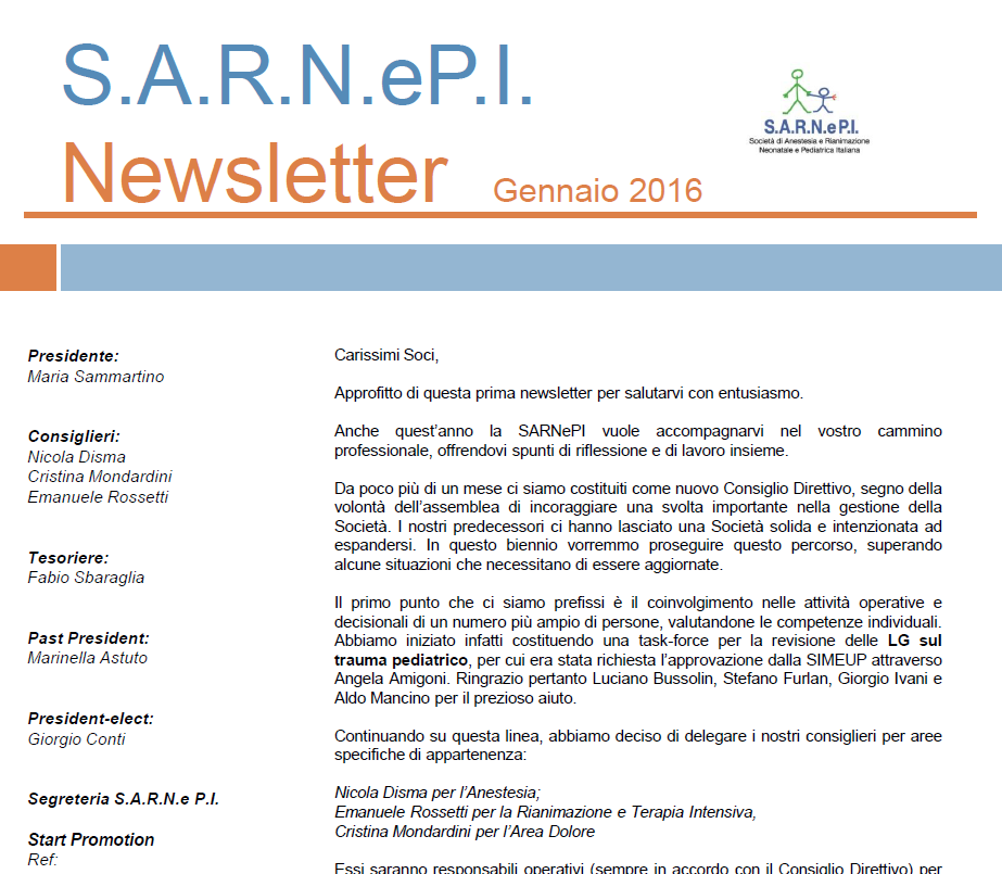 News Letters Gennaio 2016