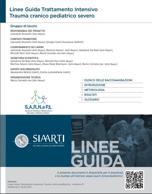 Linee Guida Trattamento Intensivo Trauma cranico pediatrico severo