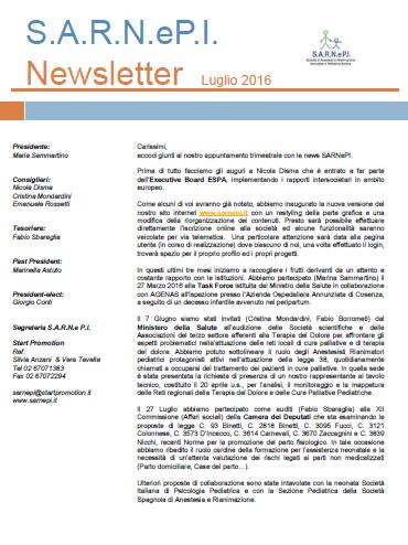 News Letters LUGLIO 2016